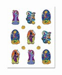 Clear-Sheet Spooky Spirit Stickers (2 sheets/pkg)