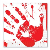 Bloody Handprints Luncheon Napkins