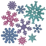 White Christmases are great, but now you can green, blue, red and purple snow with our multi colored Snowflake Cutouts!