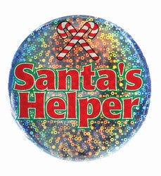 Santa's Helper Lazer Etched Button