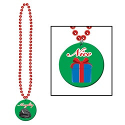 Naughty Or Nice Medallion Beads