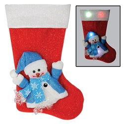 Light-Up Snowman Stocking