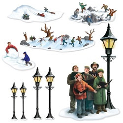 Lampposts, Carolers, and Winter Fun Props
