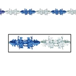 Metallic Winter Snowflake Garland