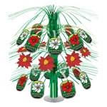 Season's Greetings Poinsettia Cascade Centerpiece