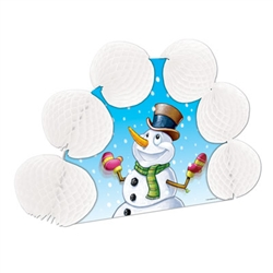 Snowman Pop-Over Centerpiece