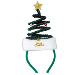 Springy Christmas Tree Headband