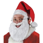 Plush Santa Hat w/Beard and Mustache