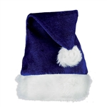 "Nothing says Santa like a Santa hat, now you can say it in style with this Blue Velvet Santa Hat with Plush Trim.  You'll look great for Instagram!  One size fits most adults (approximately 7.5"" diameter)"