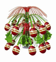 Christmas Ornament Cascade Centerpiece