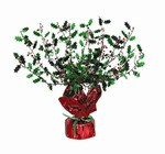 Holly Berry Gleam N Burst Centerpiece