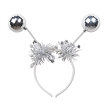 Add some pizzazz to your New Year's outfit with these fashionable Silver Ball Boppers. The boppers are attached to a clear headband so people will see you bopping from across the room! One per package.