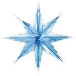 Turn your living room, cubicle or classroom into a winter wonderland by decorating with our Blue and Silver 2-Tone Metallic Snowflakes. The snowflakes measure 11 1/2 inches and the 2-tone properties make it quite elegant. Comes two snowflakes per package.