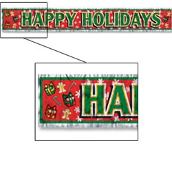 Metallic Happy Holidays Banner