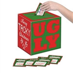 Ugly Sweater Ballot Box w/Ballots
