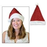 Throw out your boring old Santa Hat and upgrade to our Metallic Santa Hat this year! The red metallic fabric of the hat gives it a nice shimmer, and it's accented with white faux fur. Comes one Metallic Santa Hat per package.