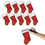 Christmas Stocking Cutouts (10/pkg)