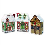 Christmas Village Favor Boxes (3/Pkg)