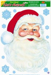 Santa Face Window Clings (6/sheet)