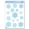 Crystal Snowflake Window Clings (15/sheet)