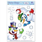 Snowman Window Clings
