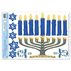 Hanukkah Activity Wall Clings (17/sheet)