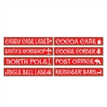 North Pole Street Sign Cutouts (4/pkg)
