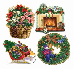 Christmas Holiday Cutouts (4/pkg)