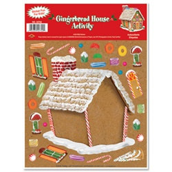 Gingerbread House Sticker Activity
