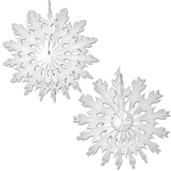 White Art-Tissue Snowflakes