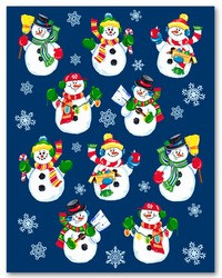 Snowman Stickers (4 sheets/pkg)