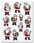 Santa Stickers (4 sheets/pkg)