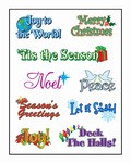 Christmas Expressions Stickers (2 sheets/pkg)