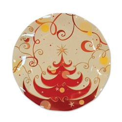 Christmas Tree Small Plates (10/pkg)