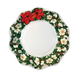 Poinsettia Medium Bowls (10/pkg)