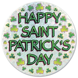 Happy St Patrick's Day Button