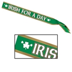 Irish For A Day Sash