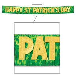 Metallic Happy St. Patrick's Day Banner