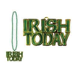 Green Irish Today Medallion Beads