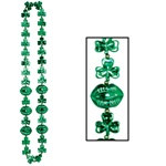 Shamrock Beads with Kiss Me Lips