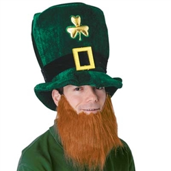 Plush Leprechaun Hat w/Beard