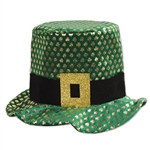 Plush Gold Shamrock Hat