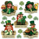 You'll have the luck of the Irish for certain when you decorate with our St. Patrick's Day cutouts!