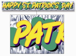 Metallic St Patrick's Day Banner