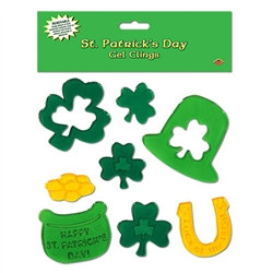 St Patrick's Day Gel Clings (8/pkg)