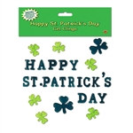 Happy St Patrick's Day Gel Clings (28/pkg)