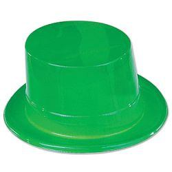 Green Plastic Topper Hat