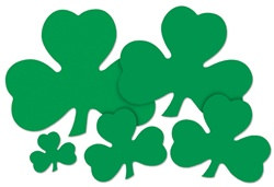 Green Shamrock Cutout (12 inch)