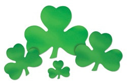 Green Foil Shamrock Cutout