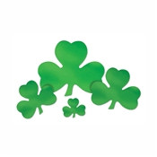 Green Foil Shamrock Cutout (Select Size)